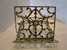"Vintage brass Easel bible book picture stand Andrea Sadek Art Deco Japan 10"" W."