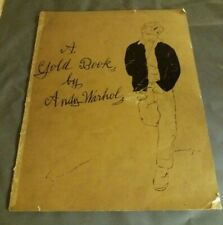 More details for andy warhol gold book - 8 prints & 4 blank gold pages - lithographs prints