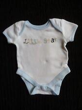 Baby clothes BOY premature/tiny<6lbs/2.7kg George blue edged/white bodysuit