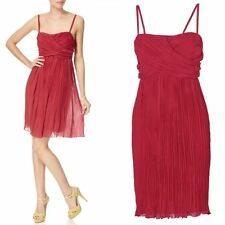 NEW Phase Eight Plisse Red Empire Cocktail Party Evening Dress Size 12 Christmas