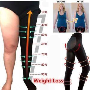 Women Anti-Cellulite Calorie Burning Sculpting Sleep Leg Shaper Legging Pants