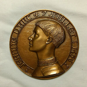 Médaille Monnaie de Paris Jeanne d'Arc environ 7cm 184gr 1973 bronze J H Coeffin