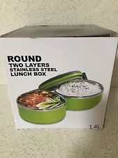 Unbranded Round Plastic Lunch Bento Boxes Bags