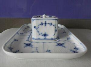 Royal Copenhagen porcelain Blue Fluted SINGLE INK STAND dated 1894-1922