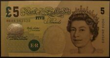 B395 LOWTHER 2002 £5 BANKNOTE * HD04 263523 * CUT HALO * UNC *