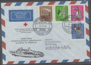 """Vietnam South Com. Cover Germany Hospital Ship """" Helgoland """" in  VN 1966-69"""