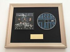 PERSONALLY SIGNED/AUTOGRAPHED RASCAL FLATTS - BACK TO US FRAMED CD PRESENTATION