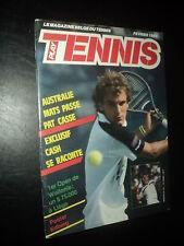 PLAY TENNIS 104 (2/88) ANDRE AGASSI WILANDER CHRIS EVERT STEFIE GRAF LENDL