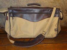 17400 Outback Train BNSF Engineer Canvas / Leather Trim Bag / Luggage / Garment