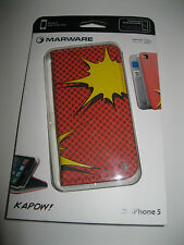 MARWARE AEKA1Z  KAPOW iPhone 5 WALLET CASE - ORANGE/YELLOW MICRO SUEDE