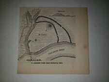Hamilton Ohio Ancient Works 1863 Hw Sketch Print Rare!