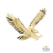 14K Yellow Gold Eagle Pendant, 14K Yellow Gold