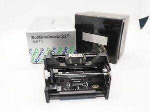 MAMIYA 220 ROLL FILM INSERT FOR M645 BOXED *I38