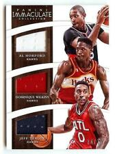 2014-15 IMMACULATE AL HORFORD/DOMINIQUE WILKINS/JEFF TEAGUE TRI JERSEY 74/75!!