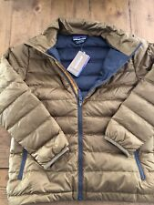 NEW Patagonia Boys Down Sweater Coriander Brown Small (7-8)