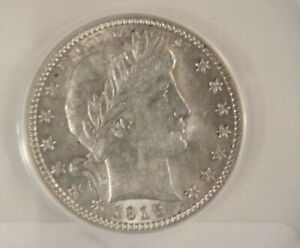 1915-D Barber Quarter Graded By ANACS as an AU-58 as close to BU as you can get