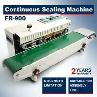 CE FR900 Automatic Horizontal Continuous Plastic Bag Band Sealing Sealer Machine