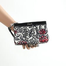 🌺NWT Coach Daisy Poppy Floral Flower Small Wallet Wristlet F45352 New RARE