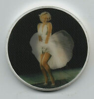 Marilyn Monroe Silver 3D Coin White Dress Skirt Wind Blows Up Movie Star Film US