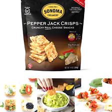 Sonoma Creamery Cheese Crisps - Pepper Jack Savory Cheese Cracker Snack High .
