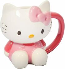 Hello Kitty 3D Mug Novelty Mug - White Pink