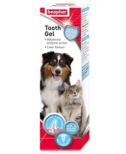 Beaphar Dog Toothpaste Tooth Gel Dogs Cats Dental Tooth Care Cat No Brushing