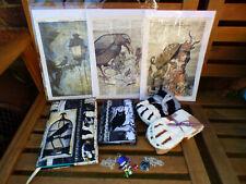 Loot Crate, Gothic Crate: book prints socks pendant
