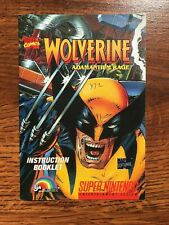 Wolverine Adamantium Rage SNES Super Nintendo Instruction Manual Only
