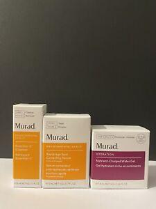 Murad Rapid Age Spot Correcting Serum/ Cleanser/ Water Gel set Travel Size New