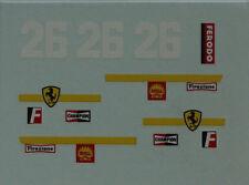 Pièces pour Dinky: décalcomanie Ferrari Formule 1 N°26 référence 1422