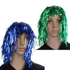 MagiDeal 2pcs Tinsel Wig Fancy Dress Tinsel Wigs Shiny Blue Green Party Wigs