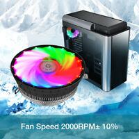 CPU Cooler Fan Heatsink RGB LED For Intel 1156/1155/1151/1150 /775 AMD AM3+ USA