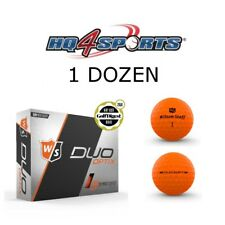2018 Wilson Staff Duo Soft Optix Harvest Moon Golf Balls - Matte Orange 1 Dozen