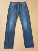 DD240 MENS LEVI'S 508 FADED BLUE STRAIGHT LEG SLIM DENIM JEANS UK S W30 L32