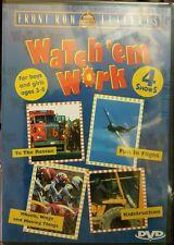 WaTch'em Work (DVD, 4 Shows) To The Rescue, Fun In Flight, Kidstruction, Wheels.