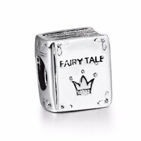 Fairy Tale Book New Design Sterling 925 Silver Charms Fit European Bead Bracelet