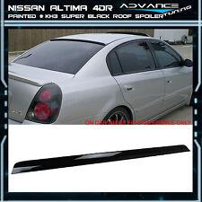 Fit For 02-06 Nissan Altima 4DR Roof Spoiler OEM Painted Color # KH3 Super Black