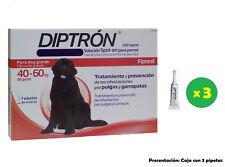 Caja 3 Pipetas para perros de 40-60 Kg anti pulgas y garrapatas DIPTRON 4,02ml