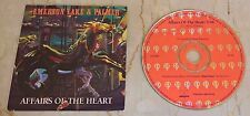 EMERSON LAKE & PALMER - Affairs of the Heart - PROMO DJ CD single 1992 USA RARE