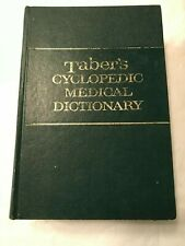 Taber's Cyclopedic Medical Dictionary Hardcover Books 12 Edition F.A. Davis