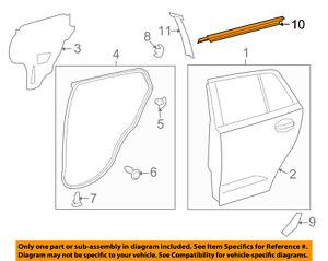 Scion TOYOTA OEM 08-14 xD Rear-Window Sweep Belt Felt Molding Left 6823052140
