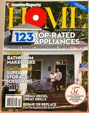 YOUR NEW HOME Magazine CONSUMER REPORTS 123 Top-Rated Appliances BATHROOM Makeov