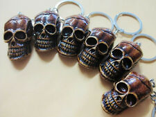 6pcs on sale lots puck style skeleton king   skull head  key-chains 6#