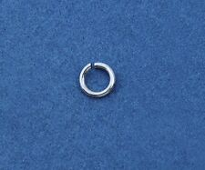 Sterling Silver Jump Ring 4 MM O/D  (22 Ga Wire) Pkg. Of  25   Saw-Cut  #184S