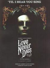 Til I Hear You Sing Love Never Dies Learn Pop PIANO Guitar PVG SHEET Music Book