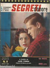 FOTOROMANZI SEGRETI D'AMORE # 9-MARZO 1963- JANE FONDA -TROY DONAHUE