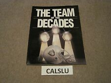 VINTAGE 1989 OAKLAND RAIDERS ☆THE TEAM OF THE DECADES☆ PROGRAM / YEARBOOK