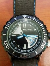 HAUREX BLACK SEA DAY-DATE MEN'S DIVER WATCH USED