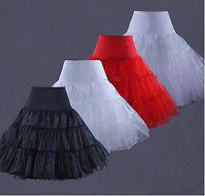 USA Tea Length Swing Skirt Prom Silps Crinoline Bridal Petticoat Underskirt lxc