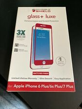 ZAGG Tempered Glass Screen Protector For Apple iPhone 6 / 6s / 7 / 8 Plus Red